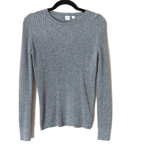 Gap silver sparkly ribbed sweater